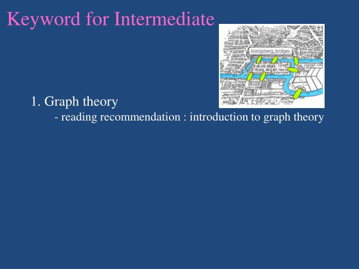 Keyword for Intermediate