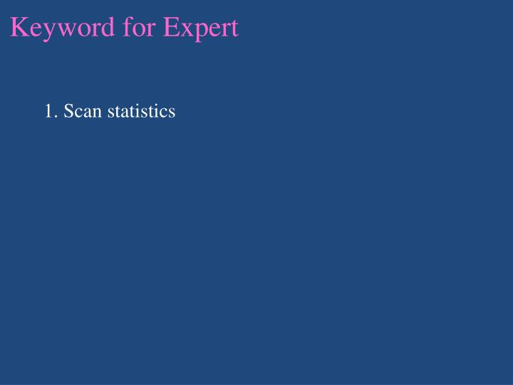 Keyword for Expert