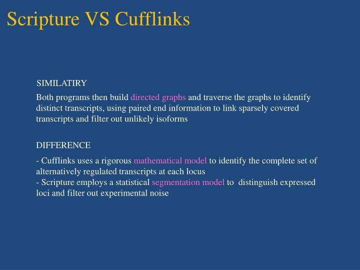 Scripture VS Cufflinks