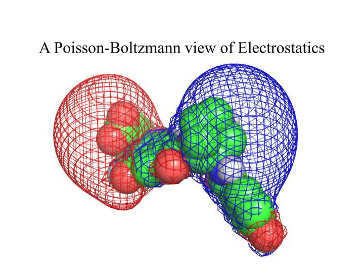 A poisson boltzmann view of electrostatics