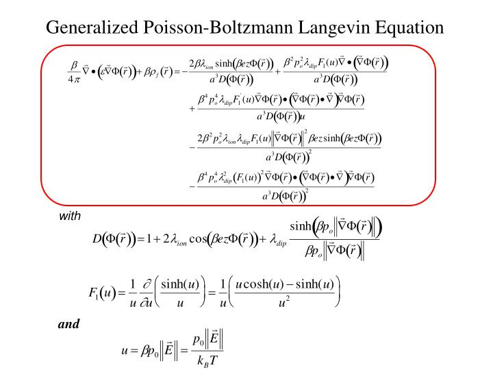 Generalized Poisson-Boltzmann Langevin Equation