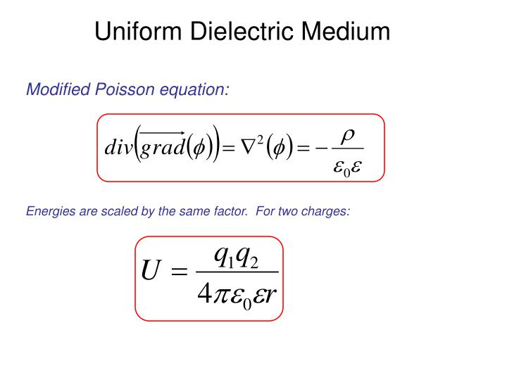 Uniform Dielectric Medium