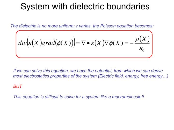 System with dielectric boundaries