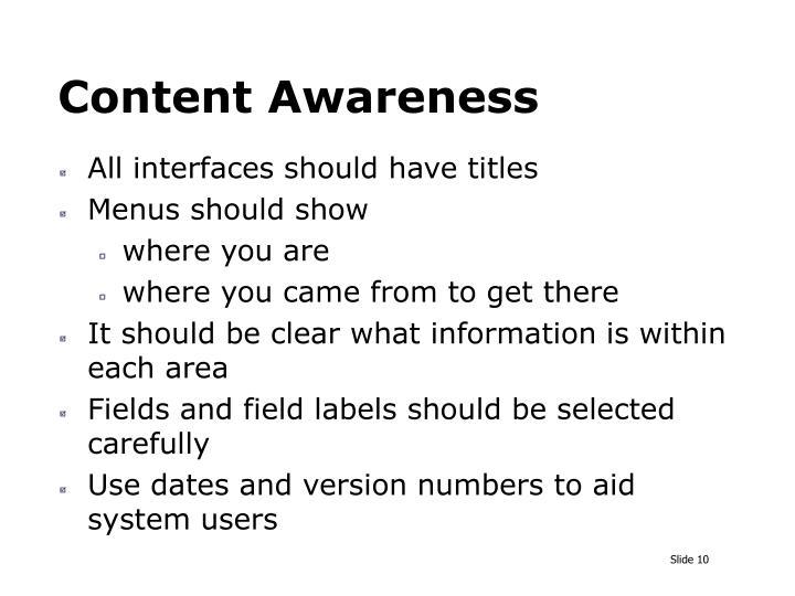Content Awareness