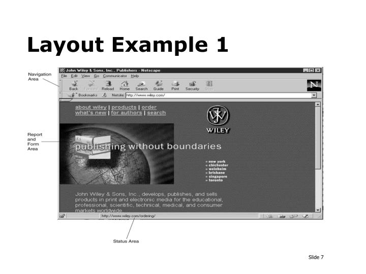 Layout Example 1