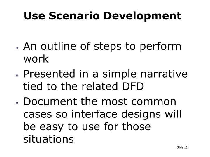 Use Scenario Development