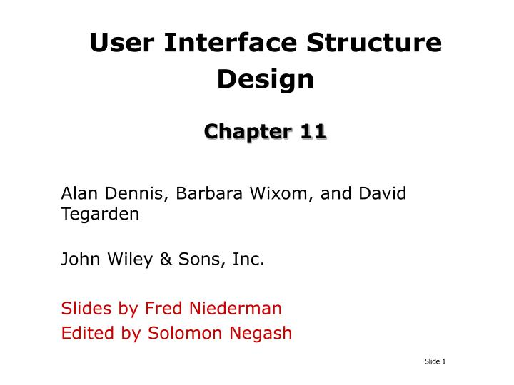 User interface structure design chapter 11
