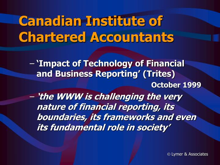 Canadian Institute of Chartered Accountants