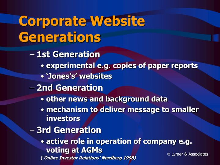 Corporate Website Generations