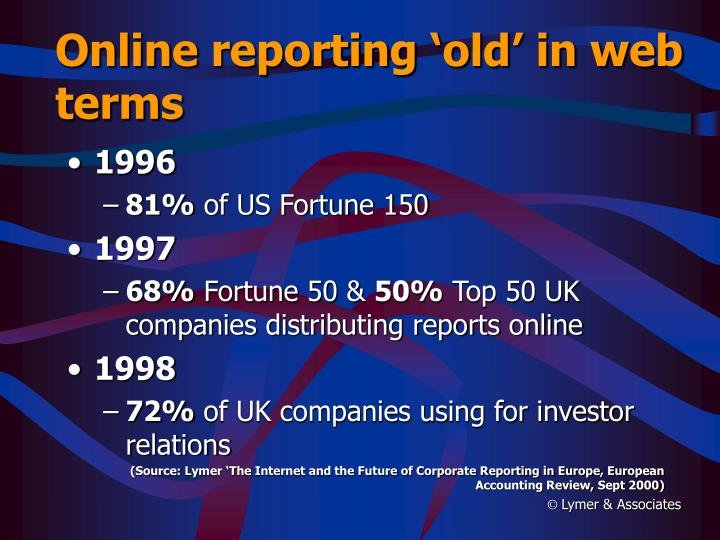 Online reporting 'old' in web terms