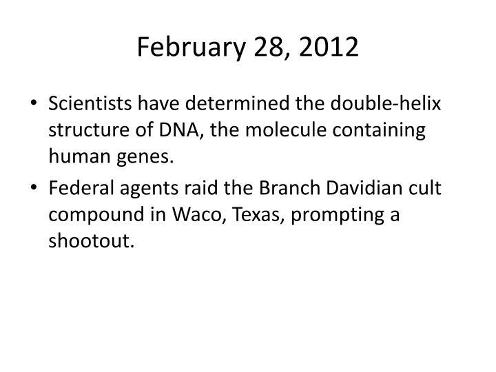 February 28, 2012