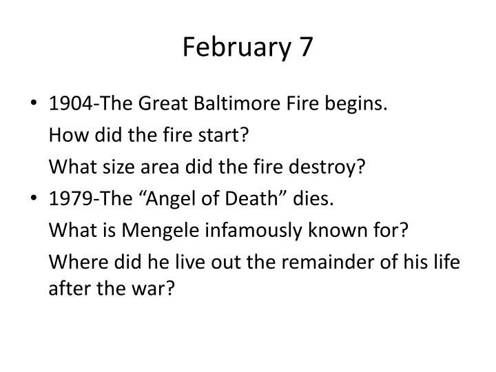 February 7