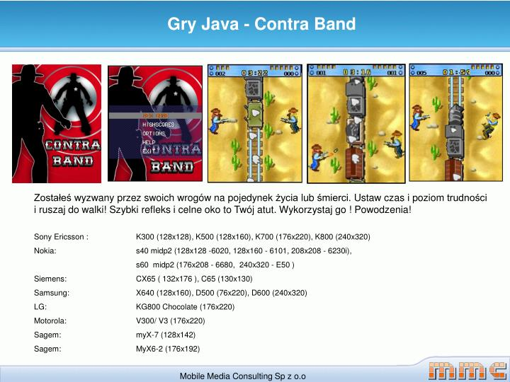 Gry Java - Contra Band