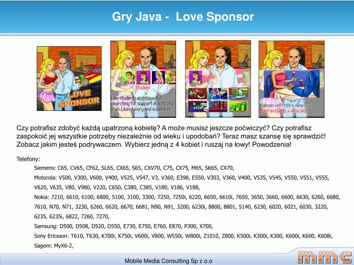 Gry Java -  Love Sponsor