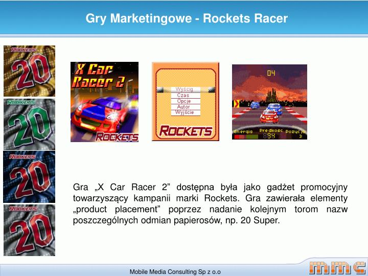 Gry Marketingowe - Rockets Racer
