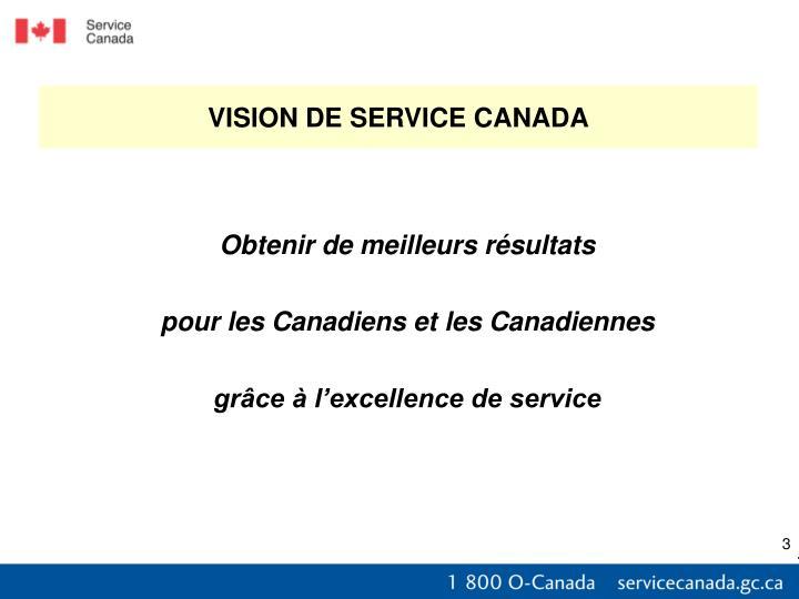 VISION DE SERVICE CANADA