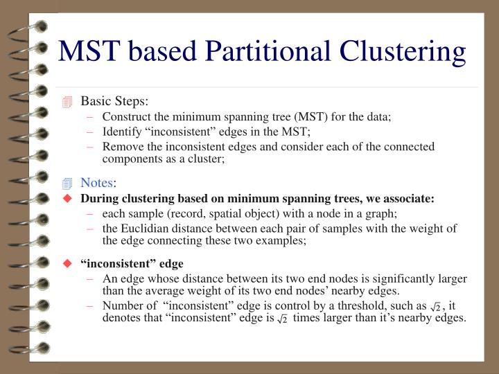 MST based Partitional Clustering