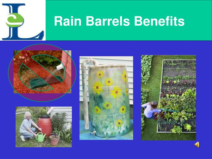 Rain Barrels Benefits