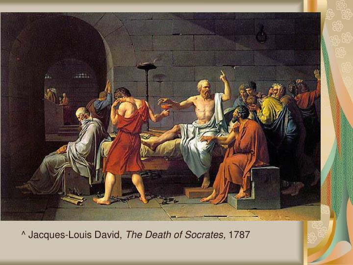 an evaluation of the neoclassical style of jacques louis davids the death of socrates The death of marat by jacques-louis david jacques-louis david exemplified the new style of neoclassicism (1785, louvre, paris), death of socrates.