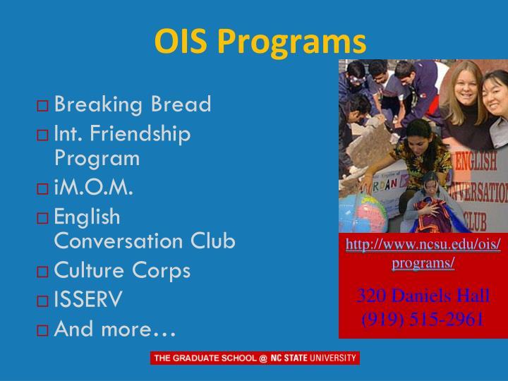 OIS Programs