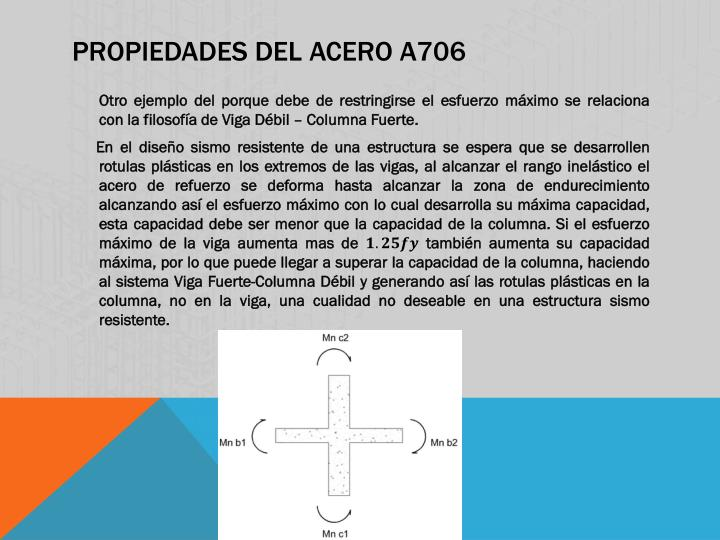 PROPIEDADES del Acero A706