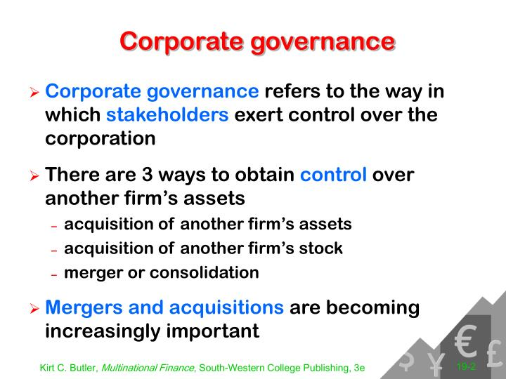Corporate governance