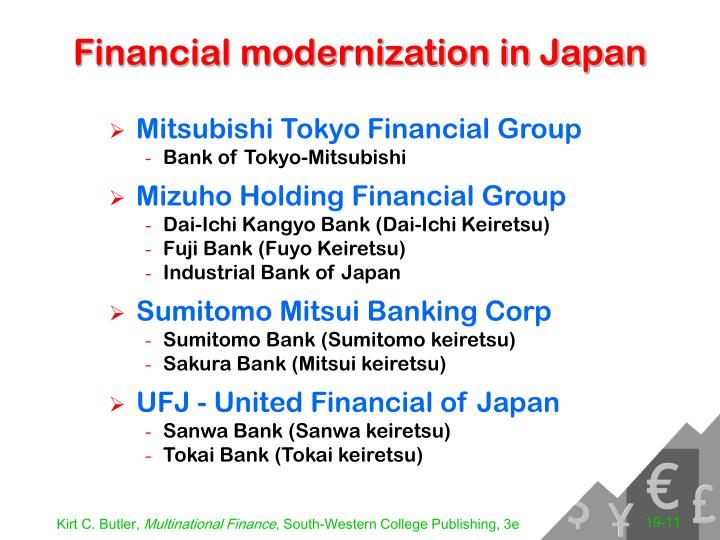 Financial modernization in Japan