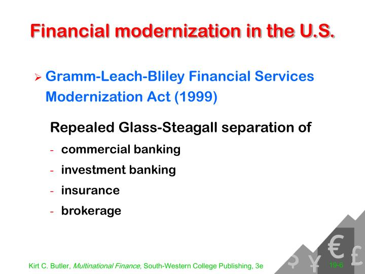 Financial modernization in the U.S.