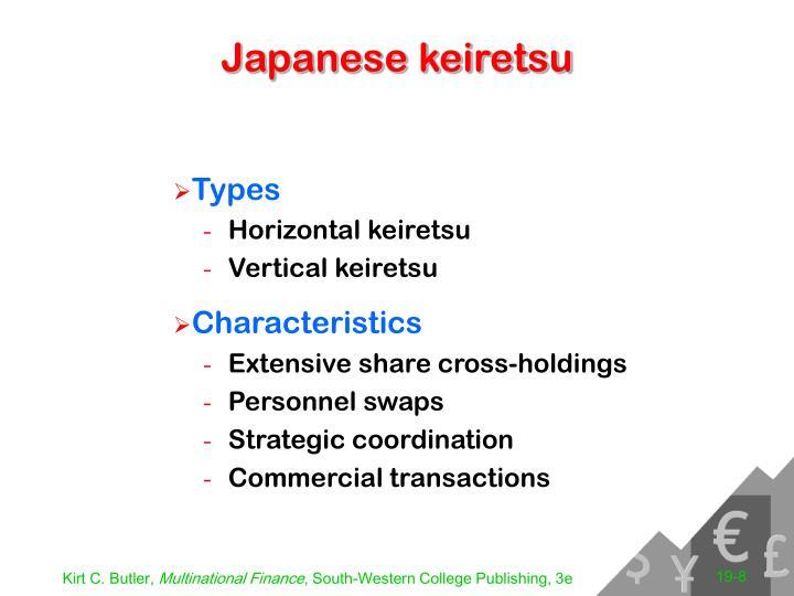 Japanese keiretsu
