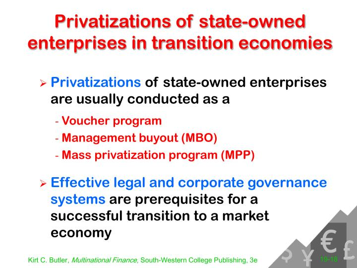 Privatizations of state-owned enterprises in transition economies