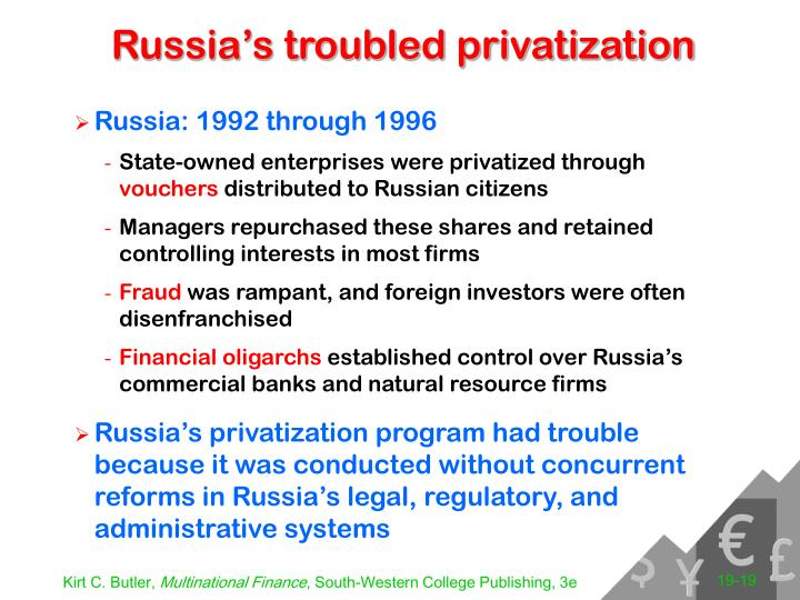 Russia's troubled privatization
