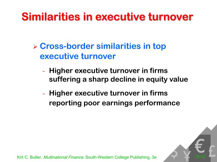 Similarities in executive turnover
