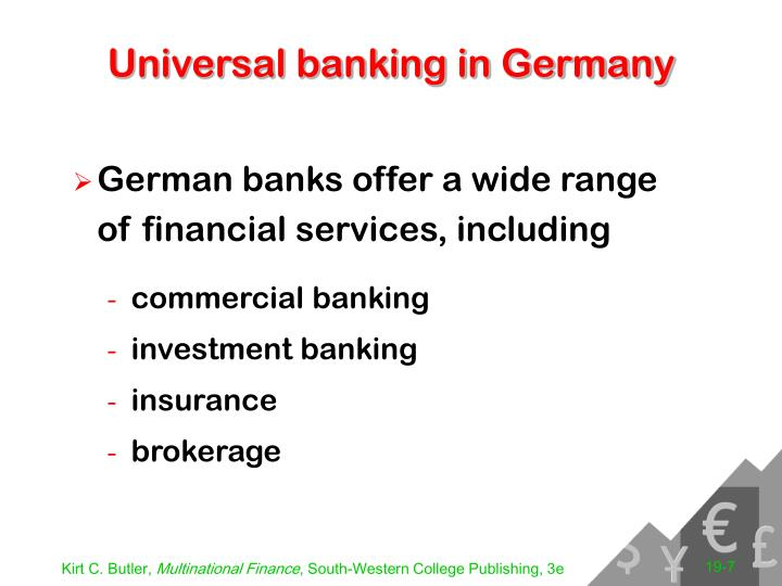 Universal banking in Germany
