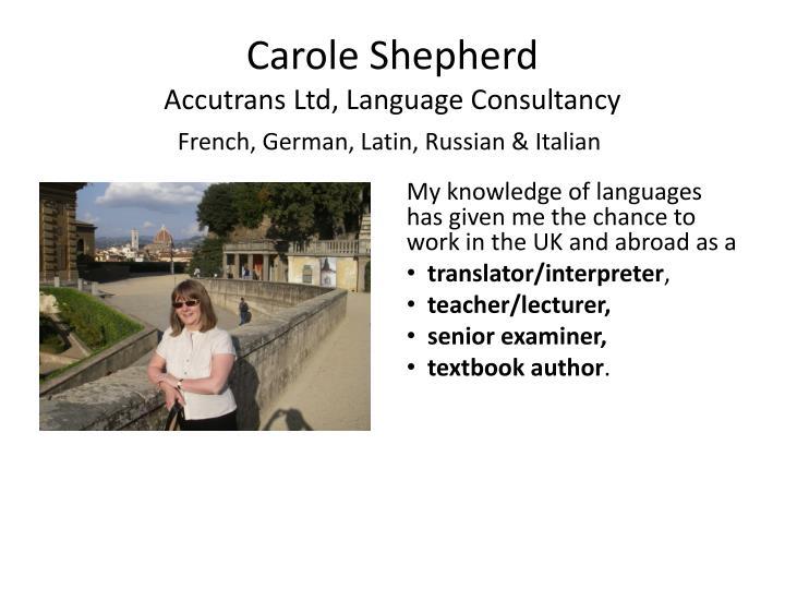 Carole Shepherd