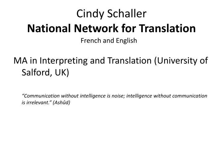 Cindy Schaller