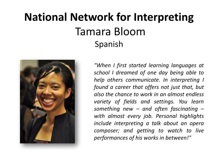 National Network for Interpreting