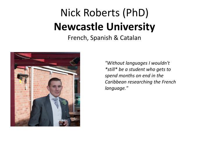 Nick Roberts (PhD)