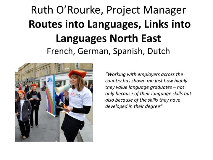 Ruth O'Rourke, Project Manager
