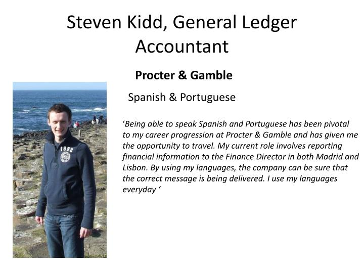 Steven Kidd, General Ledger Accountant