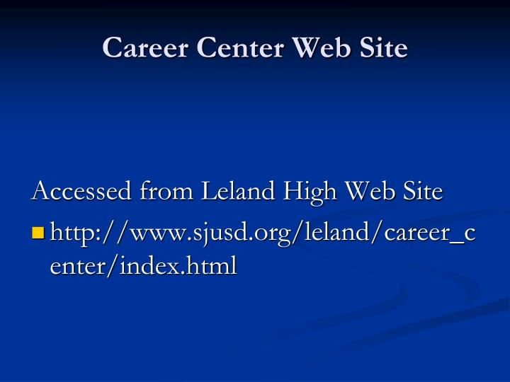 Career Center Web Site
