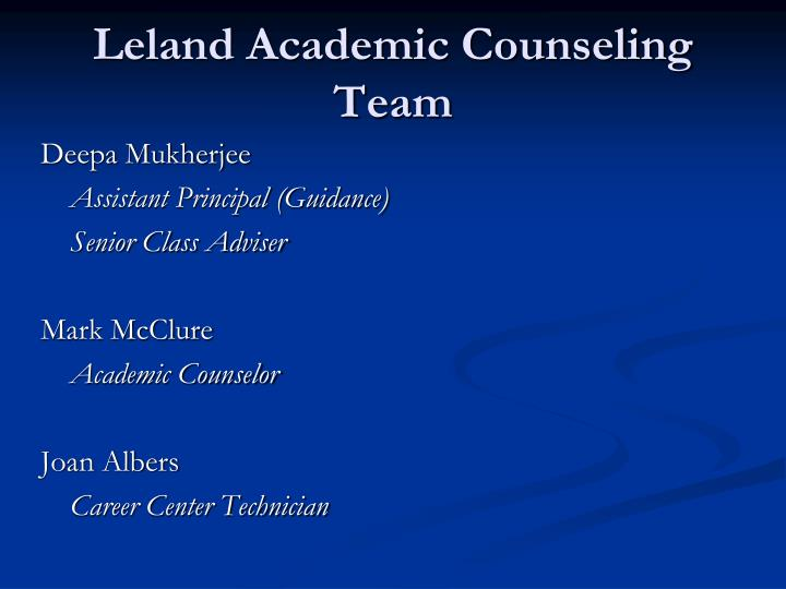 Leland Academic Counseling Team