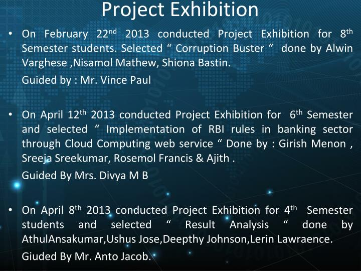 Project Exhibition