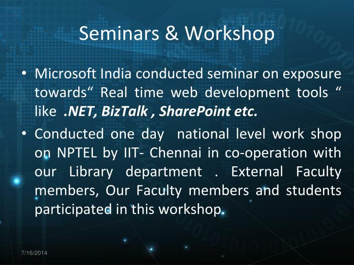 Seminars & Workshop