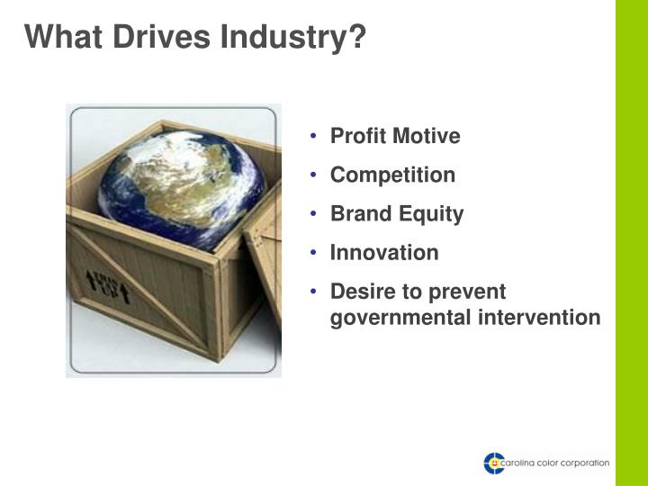 What Drives Industry?