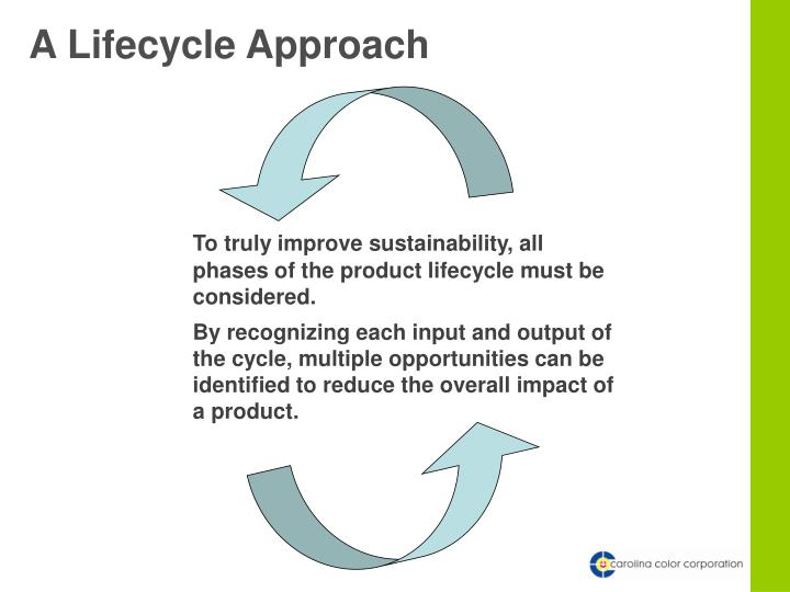 A Lifecycle Approach