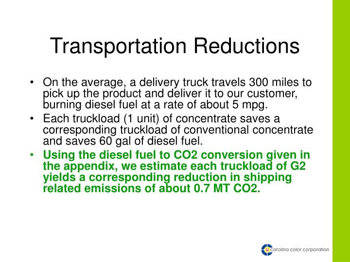 Transportation Reductions