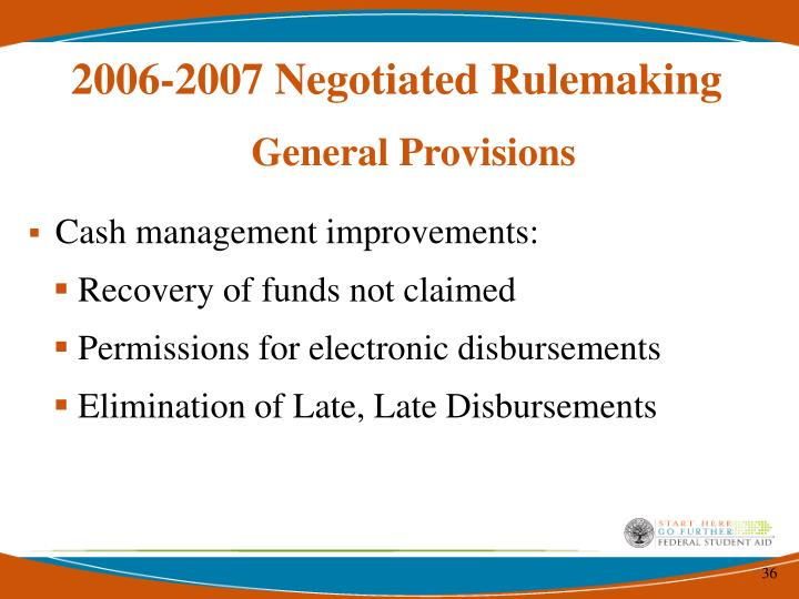 2006-2007 Negotiated Rulemaking