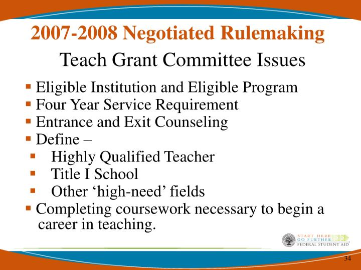 2007-2008 Negotiated Rulemaking