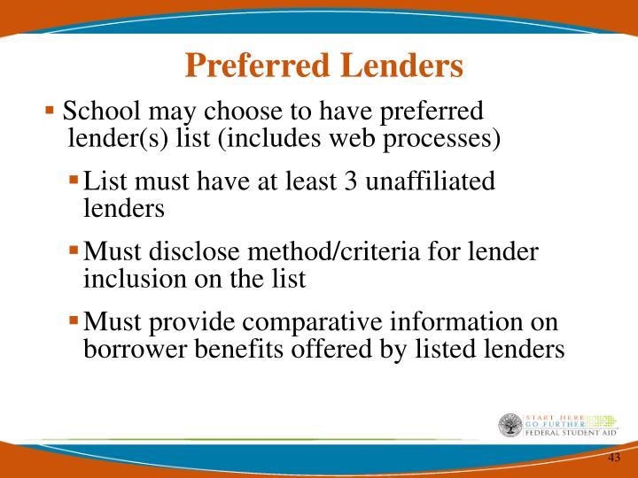 Preferred Lenders