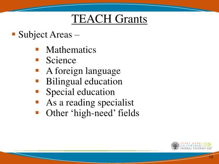 TEACH Grants